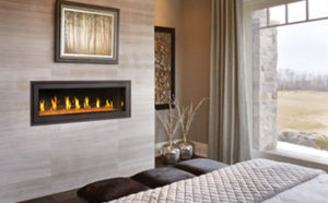 Fireplace design - in bedroom wall