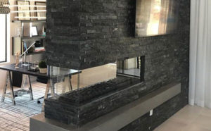 Fireplace design - two-sided