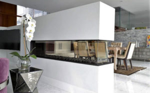 Fireplace design - 2-sided wide