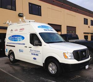 Ductworks HVAC service van